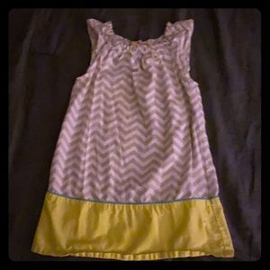 PRICE DROP**EUC girls Chevron dress